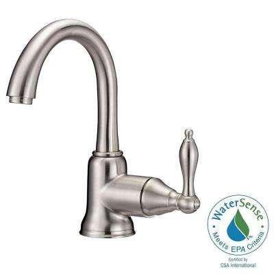 Fairmont Single Hole Single Handle High Arc Bathroom Faucet With