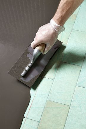 Faire un sol en béton ciré sur du carrelage DIY interior