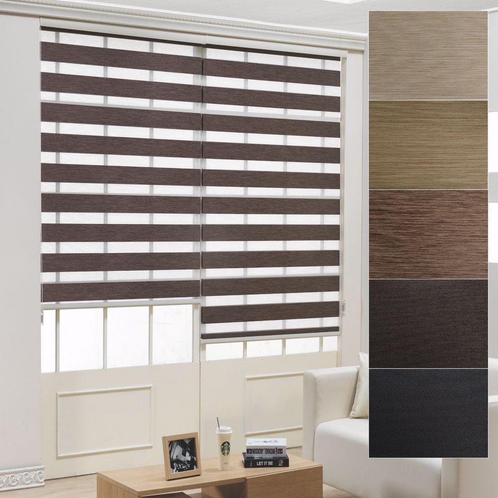 Details About B C Over 95 Black Out Roller Zebra Shade Home