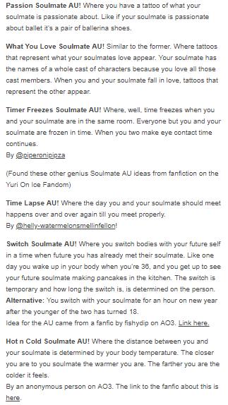soulmate au masterlist 4/5 #SoulmateTip | Soulmate | Writing