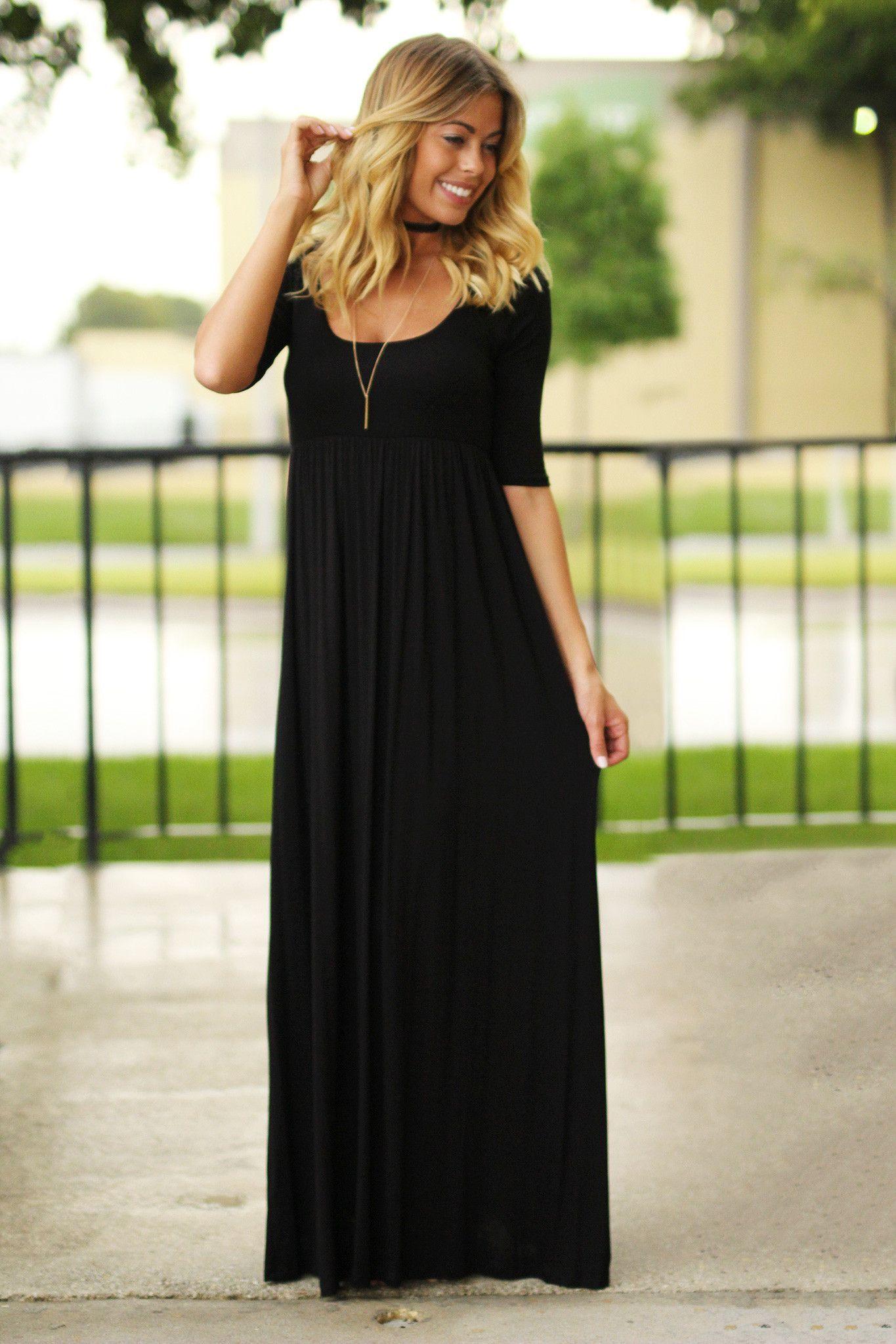 Black maxi dress with sleeves black maxi maxi dresses and blazers