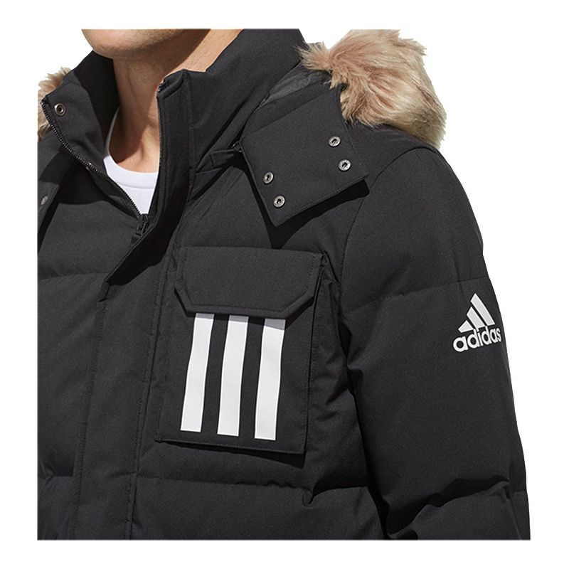 adidas Men's 3Stripes Down Puffa Jacket Sport outfits