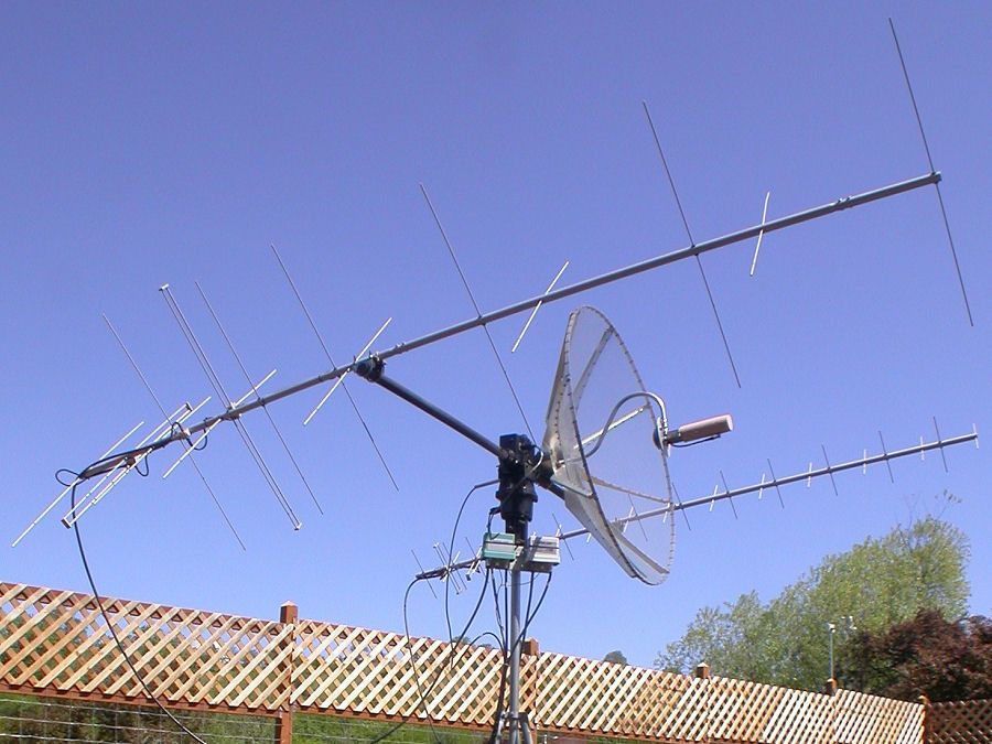 Antenna for amateur sattelite