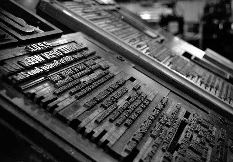 Metal type mounted on a letterpress Typefaces Pinterest - flexo press operator sample resume
