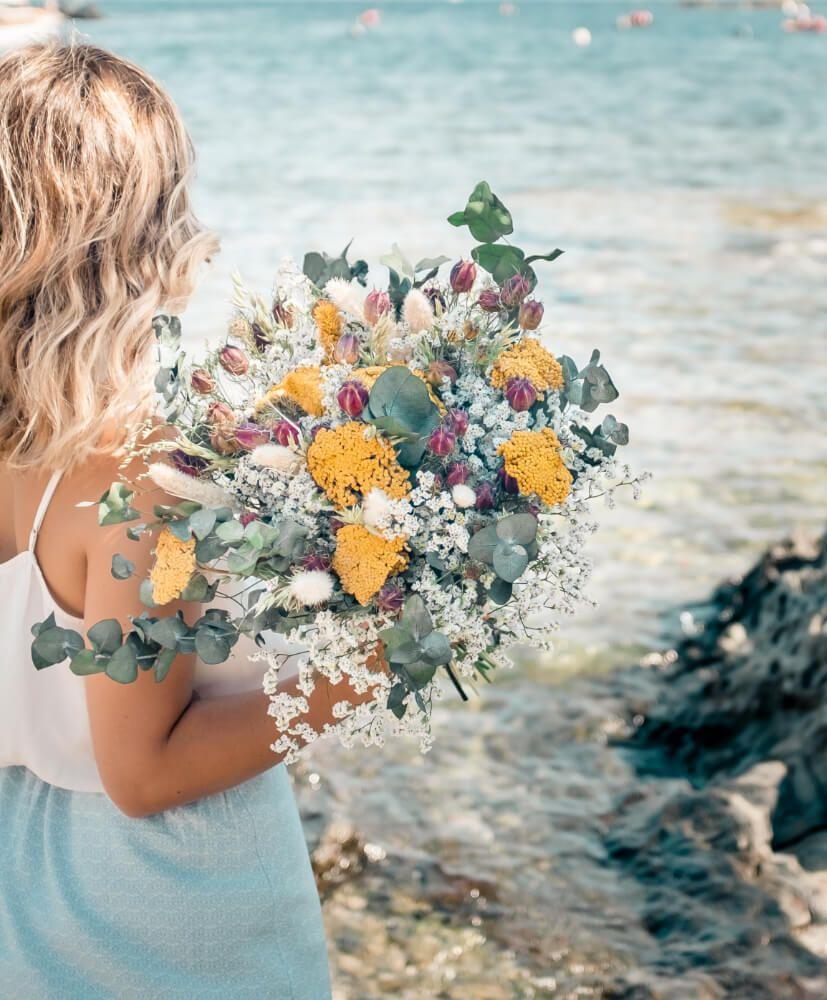 Feuille D Eucalyptus Bouquet bouquet de fleurs séchées cala monjoi - rosa cadaqués