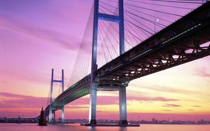 HD Yokohama Bay Bridge Japan Wallpaper