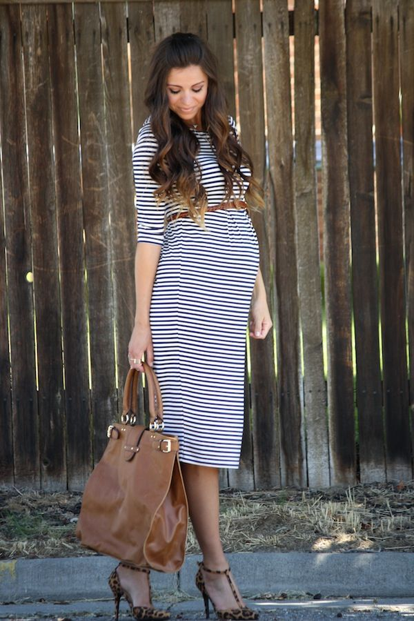 The use of a pre-pregnancy belt just sets off this maternity outfit ! Get the look from MotherhoodCloset.com for less than $27.