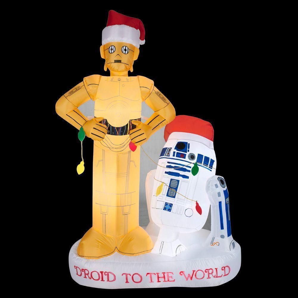 New 5 5 Ft Star Wars R2d2 And C3po Scene Christmas Airblown Inflatable Blow Up Gemm Star Wars Christmas Star Wars Christmas Decorations Christmas Inflatables