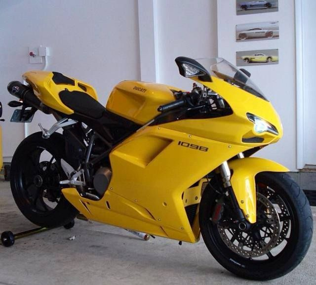 1098 Yellow With Images Sports Bikes Motorcycles Ducati