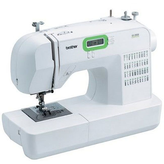 ES2000 computerized sewing machine includes 77 stitch functionsSewing machine features one-step bobbin replacement with quick set drop-in bobbinMachine contains automatic needle threading and a built-in thread cutter