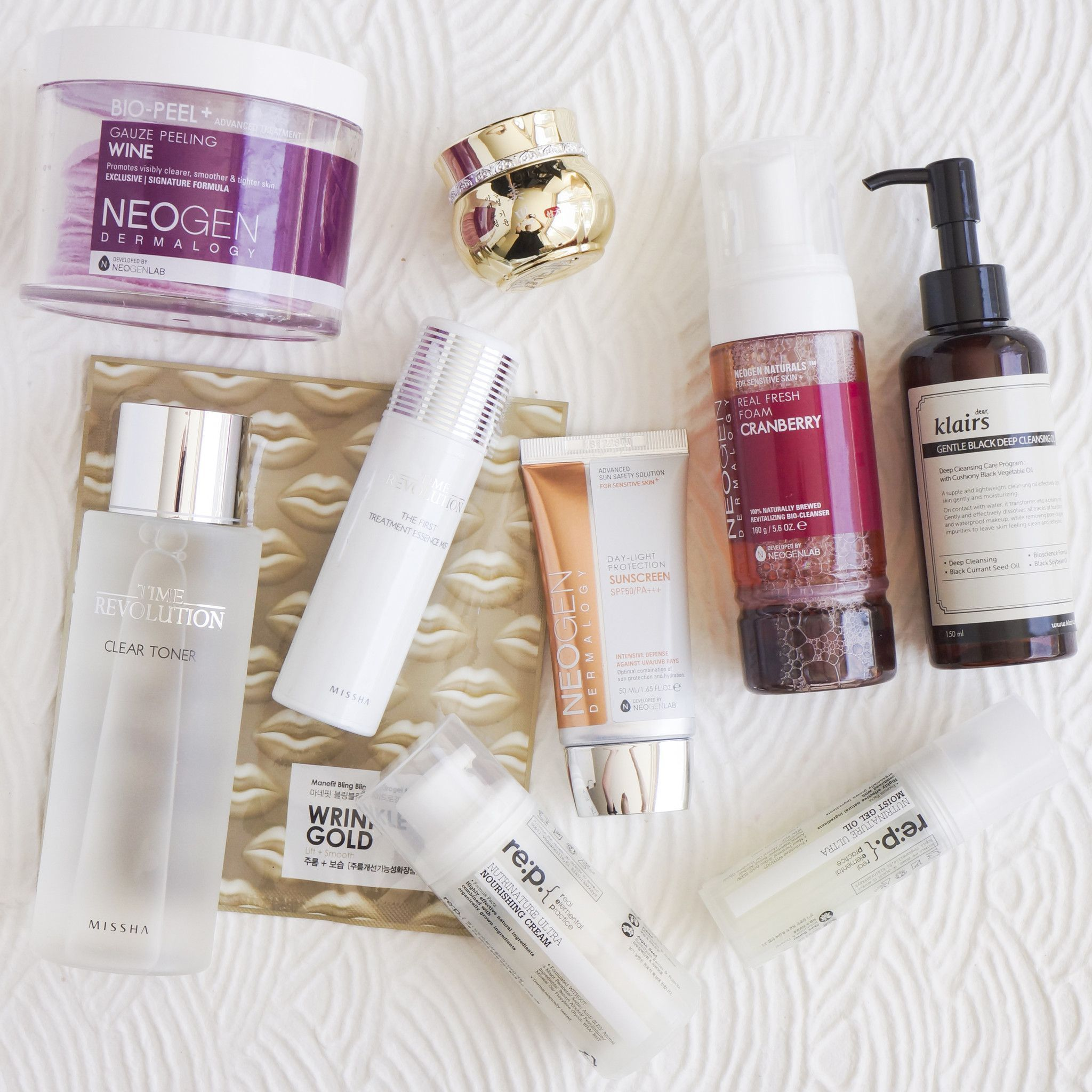 10Step Korean Skin Care Routine Set (Dry Skin Type