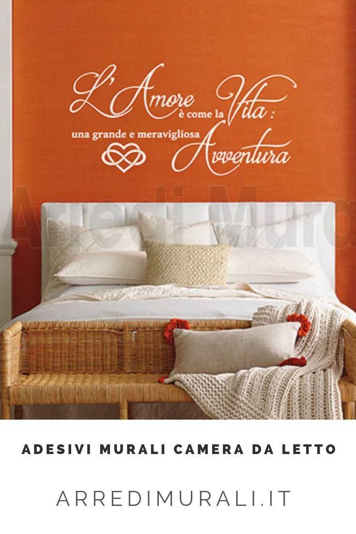Decoro pareti camera da letto con frase d\'amore ws1556 ...