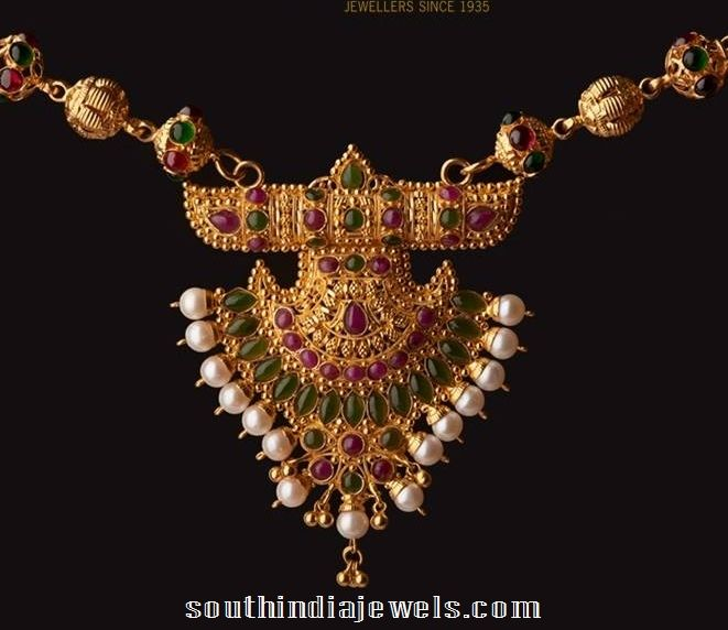 162d3848ae08c antique 22k gold necklace from Abharan Jewellers | Necklace ...