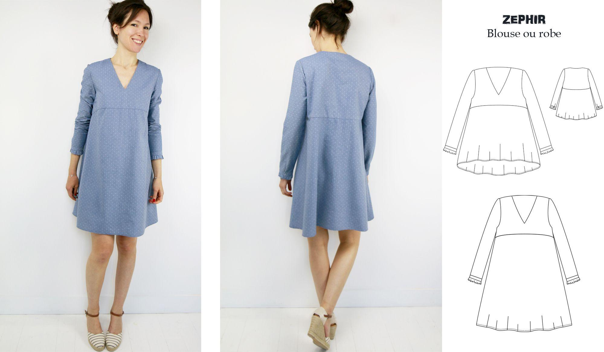 Zéphir: robe ou blouse ?   Atelier Scammit