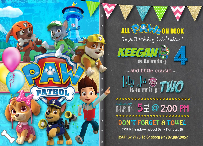 Pin by Jaecee Hoctor on Birthday Parties | Pinterest | Paw patrol ...