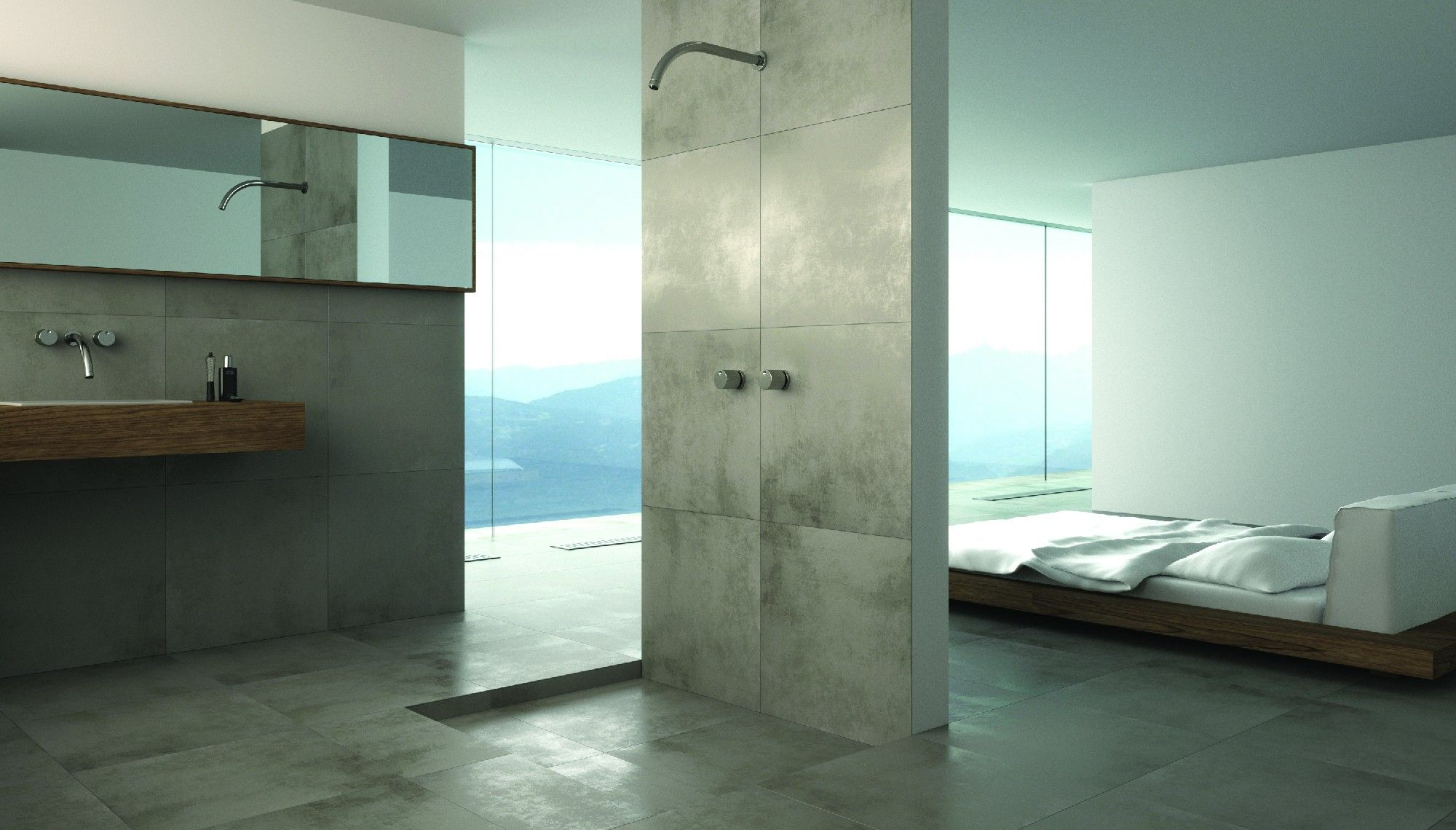 fliesenwelt bodenfliese ciment grigio 60x60cm jetzt g nstig kaufen bad fliesen betonoptik. Black Bedroom Furniture Sets. Home Design Ideas