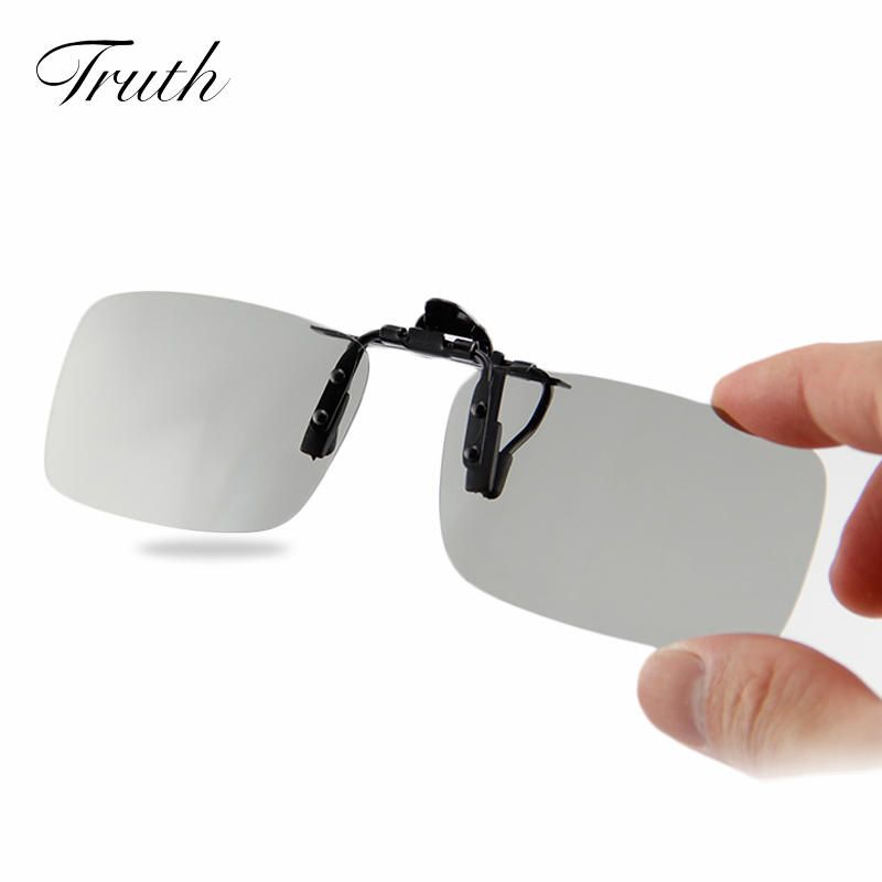 c0fc6727ca TRUTH Sunglasses Clip Lenses For Driving Polarized Clip Glasses Gray  Anti-Glare Fishing Glasses Clip