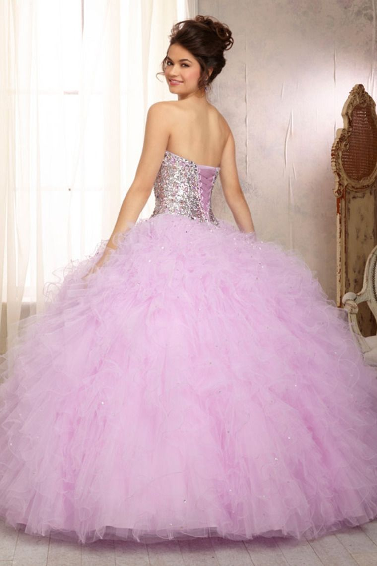 2014 New Style Quinceanera Dresses Ruffled Tulle Ball Gown Skirt Sweetheart