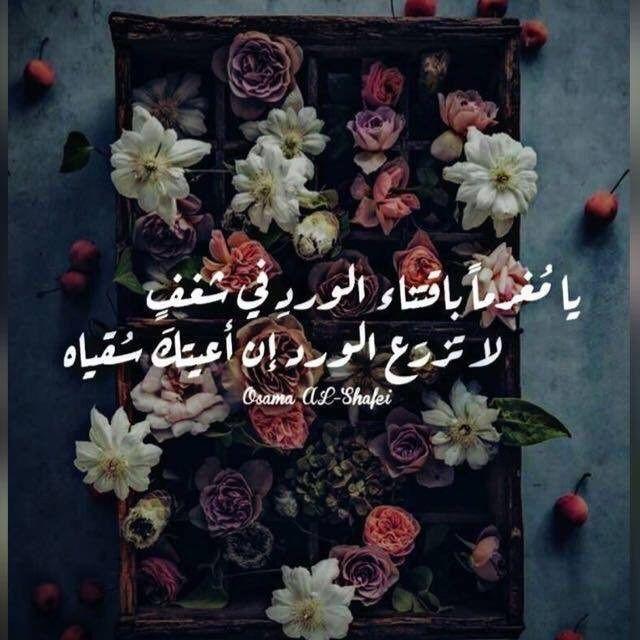 اعتني بالورد والا سيسقيه غيرك اقوال ورد Arabic Quotes Sweet Quotes Words Quotes