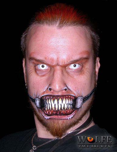 Kurt Drake of Wolfe Face Art  FX creates art using face paints - halloween face paint ideas scary