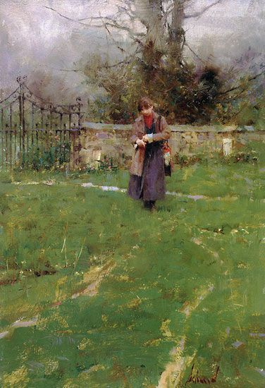 """Richard Schmid: The. Master. Painter. How does he say so much with so little?"" ....perfect composition and tonal values - just beautiful"