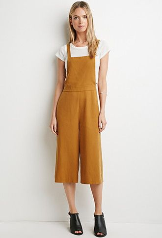 Contemporary Textured Culottes Overalls | Forever 21 - 2000158225