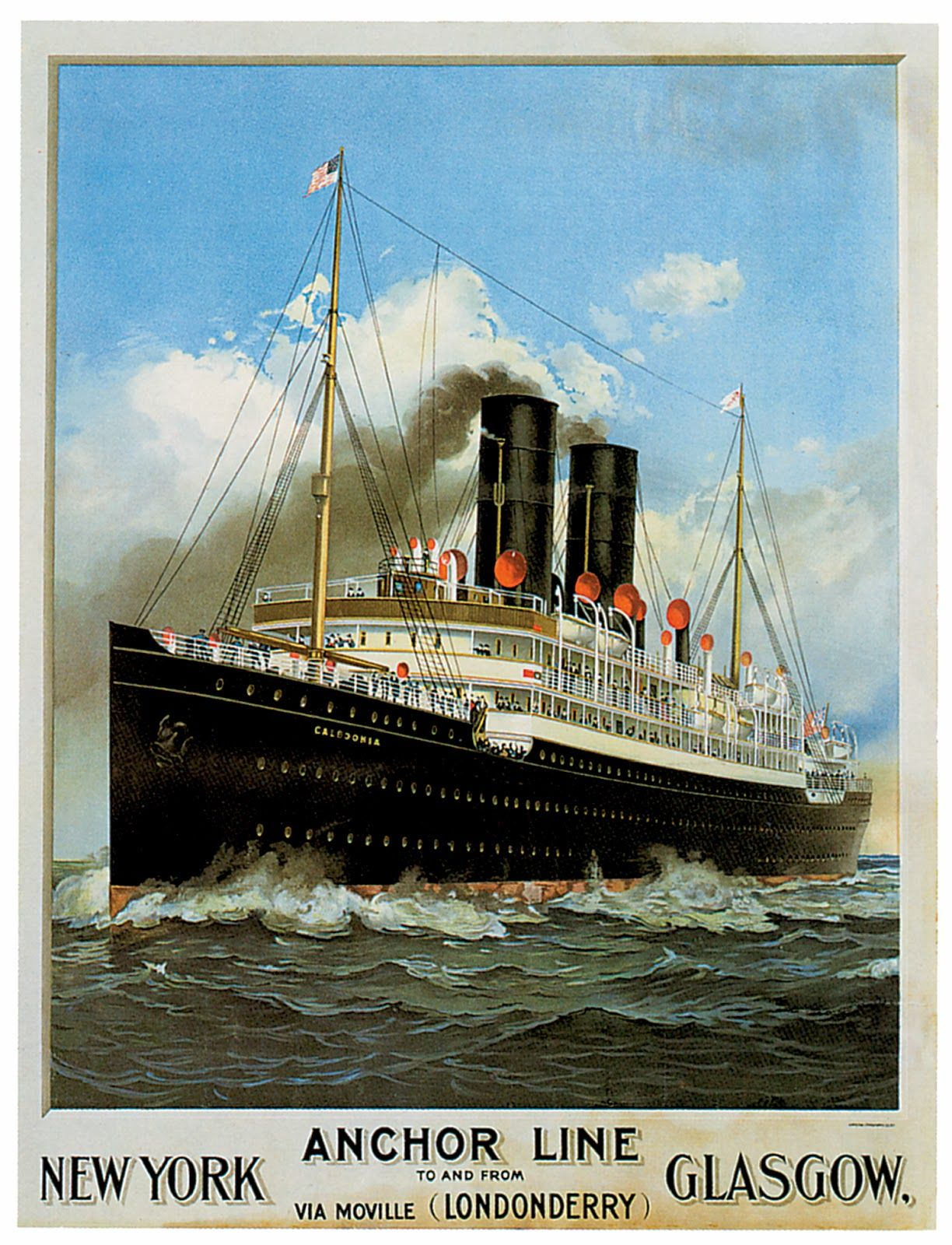 A2 Print Vintage Anchor Shipping Line Cruises to India Poster A3