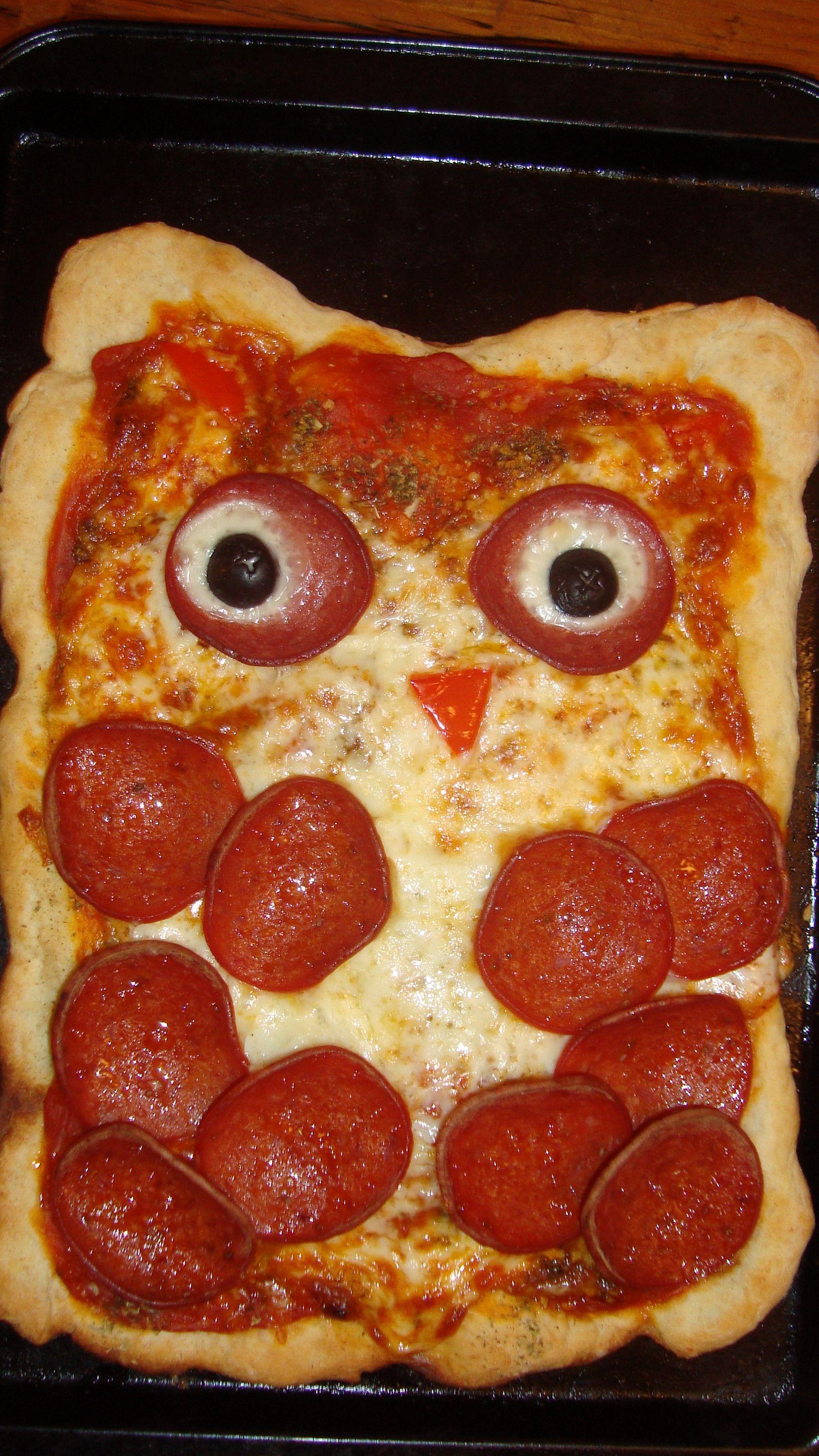 Owl Pizza | -♥- Parties: Woodland Wonder -♥- | Pinterest | Eule