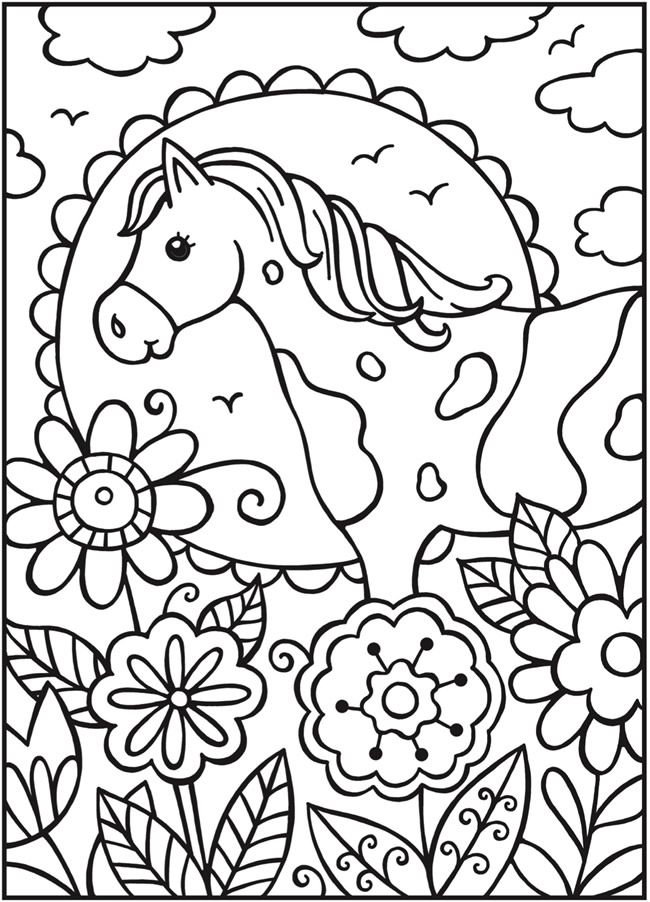 Welcome to Dover Publications - SPARK Horses | Coloring | Pinterest ...