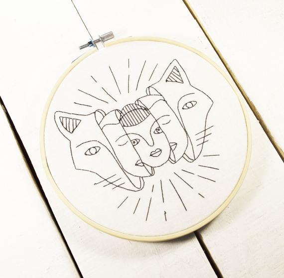 Aesthetic embroidery hoop