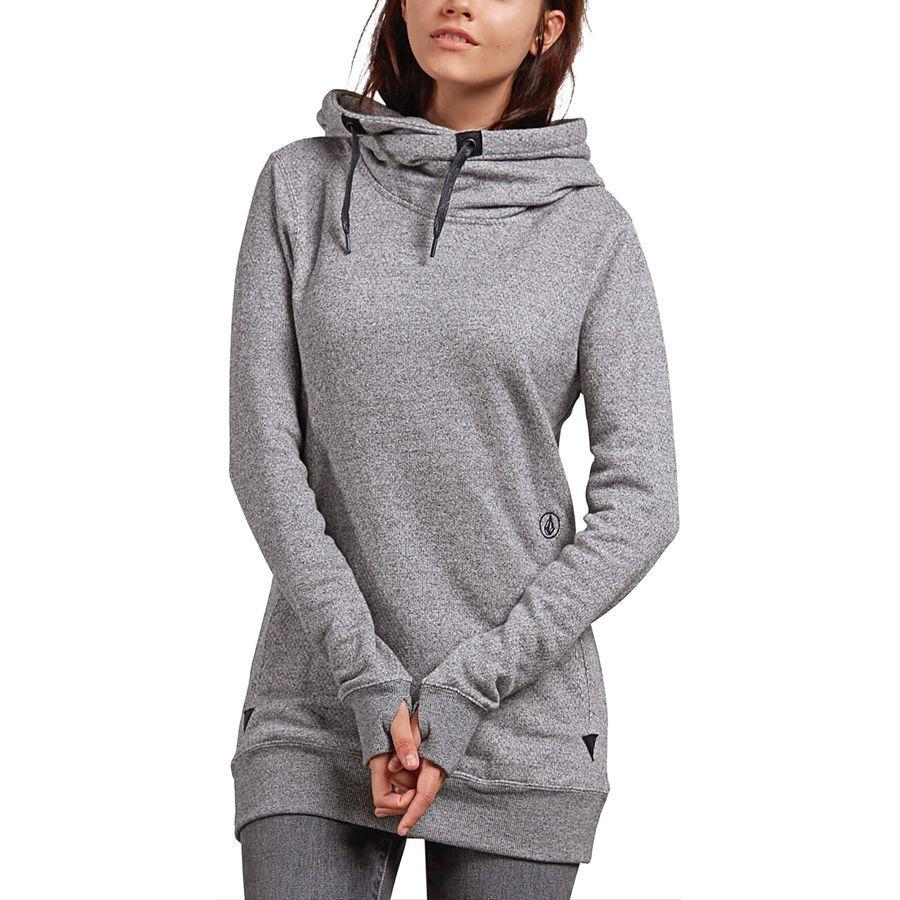 79c0ca8cc8b Volcom - Tower Pullover Fleece Sweatshirt - Women s - Heather Grey ...