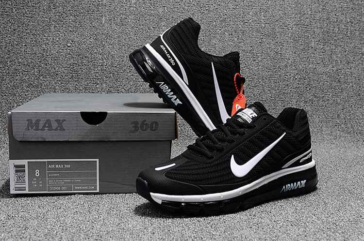 release date 373ab bf475 Nike Air Max 360 Running Women Men Shoes Black White