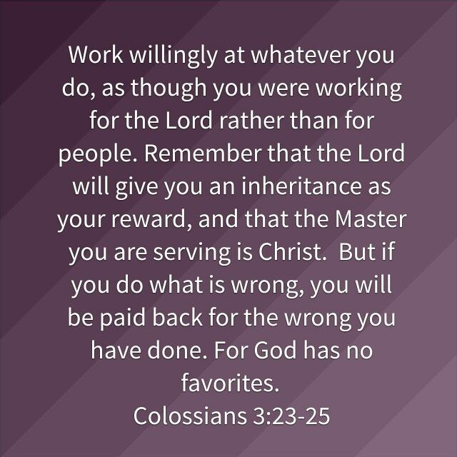 Colossians 3:23-25