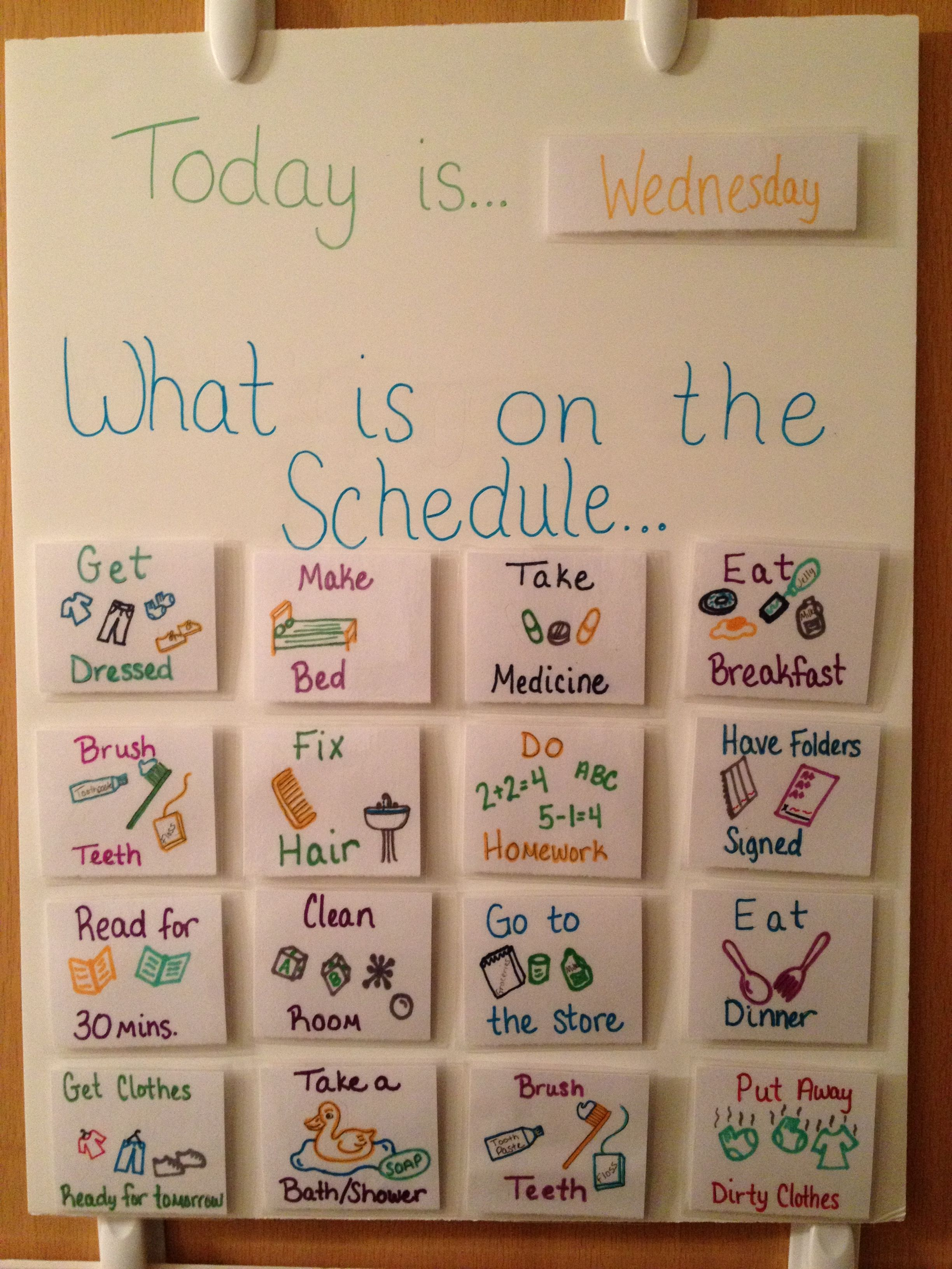 Homemade Visual Schedule
