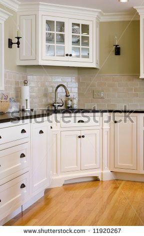 Nice Corner Sink With Closed In Wall Corner Sink Kitchen Kitchen Design Two Tone Kitchen Cabinets