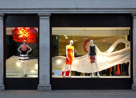 Karen Millen window installation by Mamou-Mani