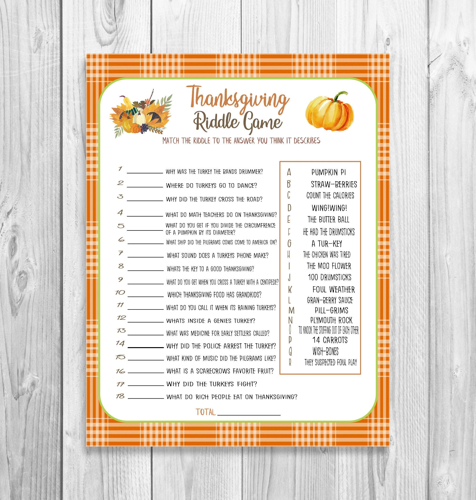 Thanksgiving Game Printable Thanksgiving Riddle Game Kid Etsy Thanksgiving Games For Adults Thanksgiving Kids Thanksgiving Printables [ 2100 x 2000 Pixel ]