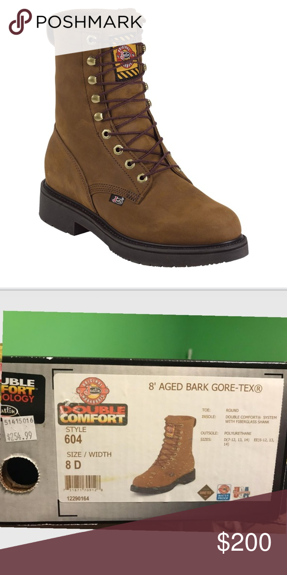 Gore-Tex Waterproof Boot 604 8D Justin