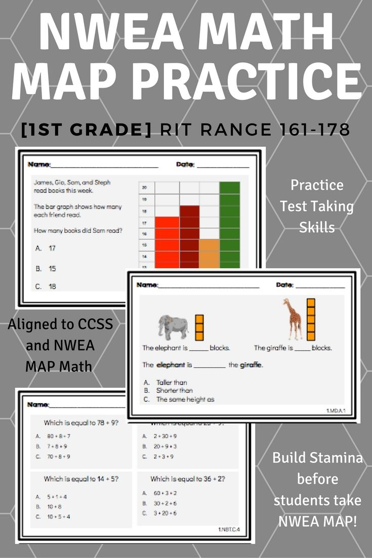 1st Grade NWEA MAP Math Practice Questions [RIT 161-178] | NWEA MAP ...