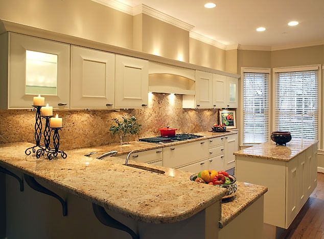 bright traditional italian l shaped kitchen with kitchen island marbled countertop and raised on l kitchen id=78684