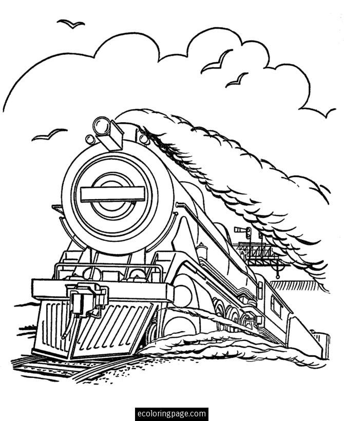 Free Steam Train Coloring Pages To Print Enjoy Coloring Train