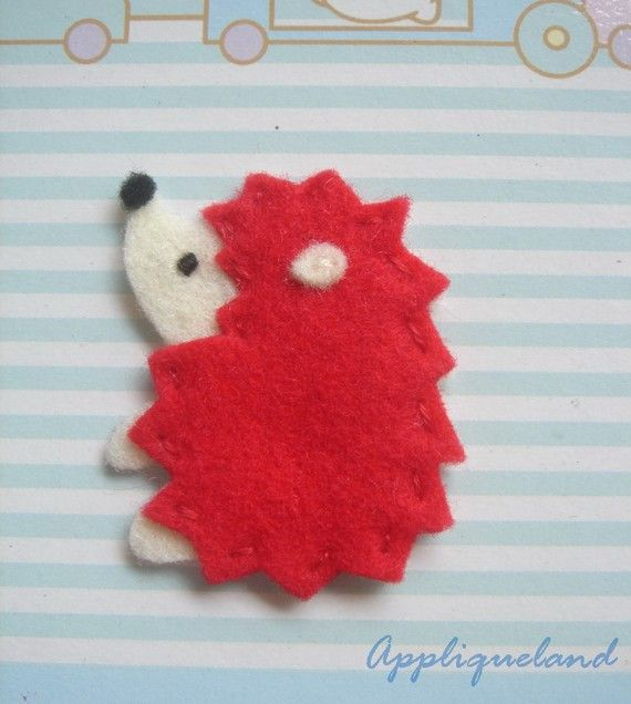 Set Of 6 pcs Handmade Felt Hedgehog van Appliqueland op Etsy