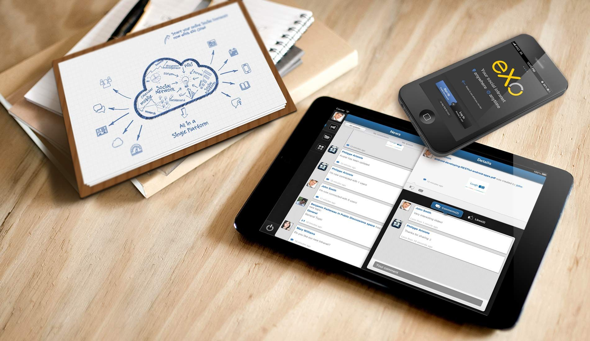 Open Source Enterprise Social Network and Enterprise Portal