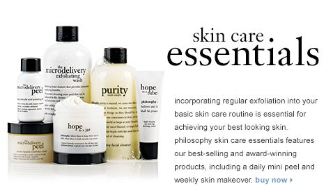 Philosophy Basic Skin Care Routine Philosophy Skin Care Skin Care Essentials