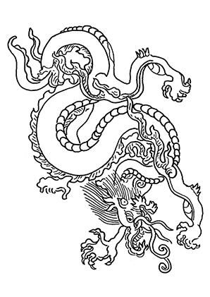 Drachen Ausmalbild Drachen Ausmalbilder Chinesischer Drache Drachen