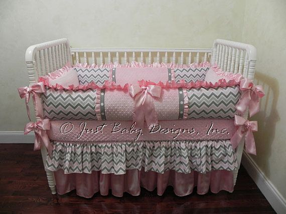 Baby Crib Bedding Set Angelica Baby Girl Bedding Pink And Gray
