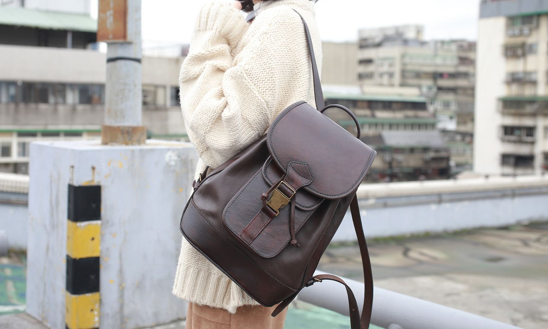 Beautifully Simple Brown Leather Backpack by Beara Beara