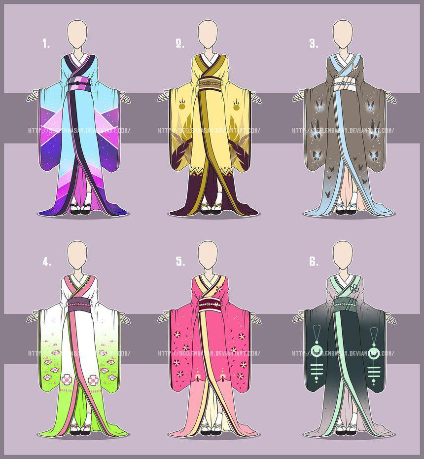 ...Kimonos... Adopts [OPEN] 1/6 by Seelenbasar.deviantart