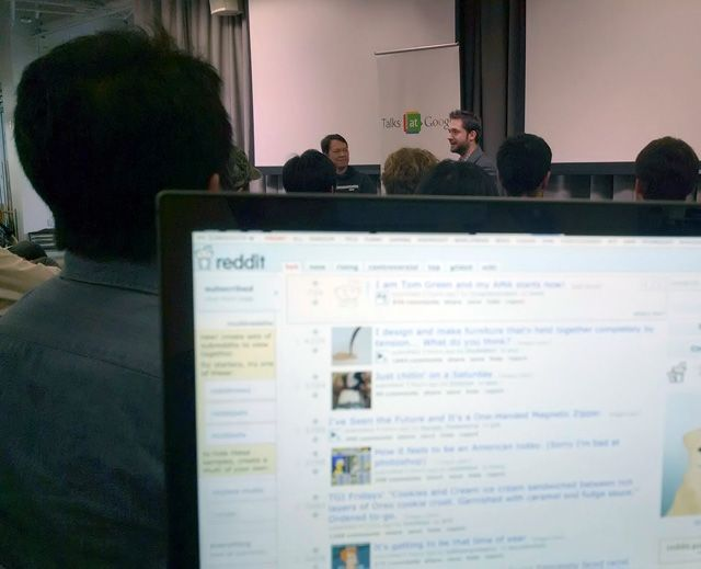 Google's head of search spam, Matt Cutts, shared a photo of him reading Reddit on his laptop while listening to the co-founder of Reddit give a talk.  SEOs would pay big bucks to see what is on Matt's
