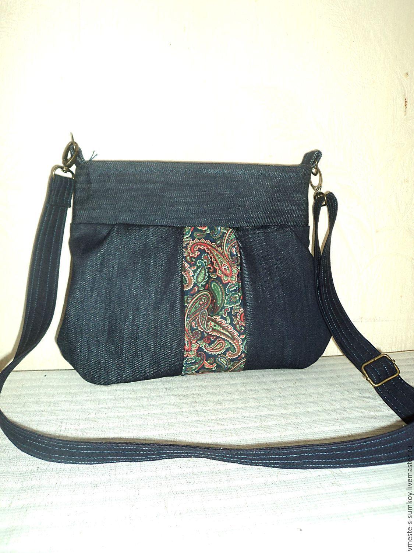 c57aa45c5026 Купить Акция! Джинсовая сумочка на длинном ремешке - комбинированный,  пейсли, акция скидки,